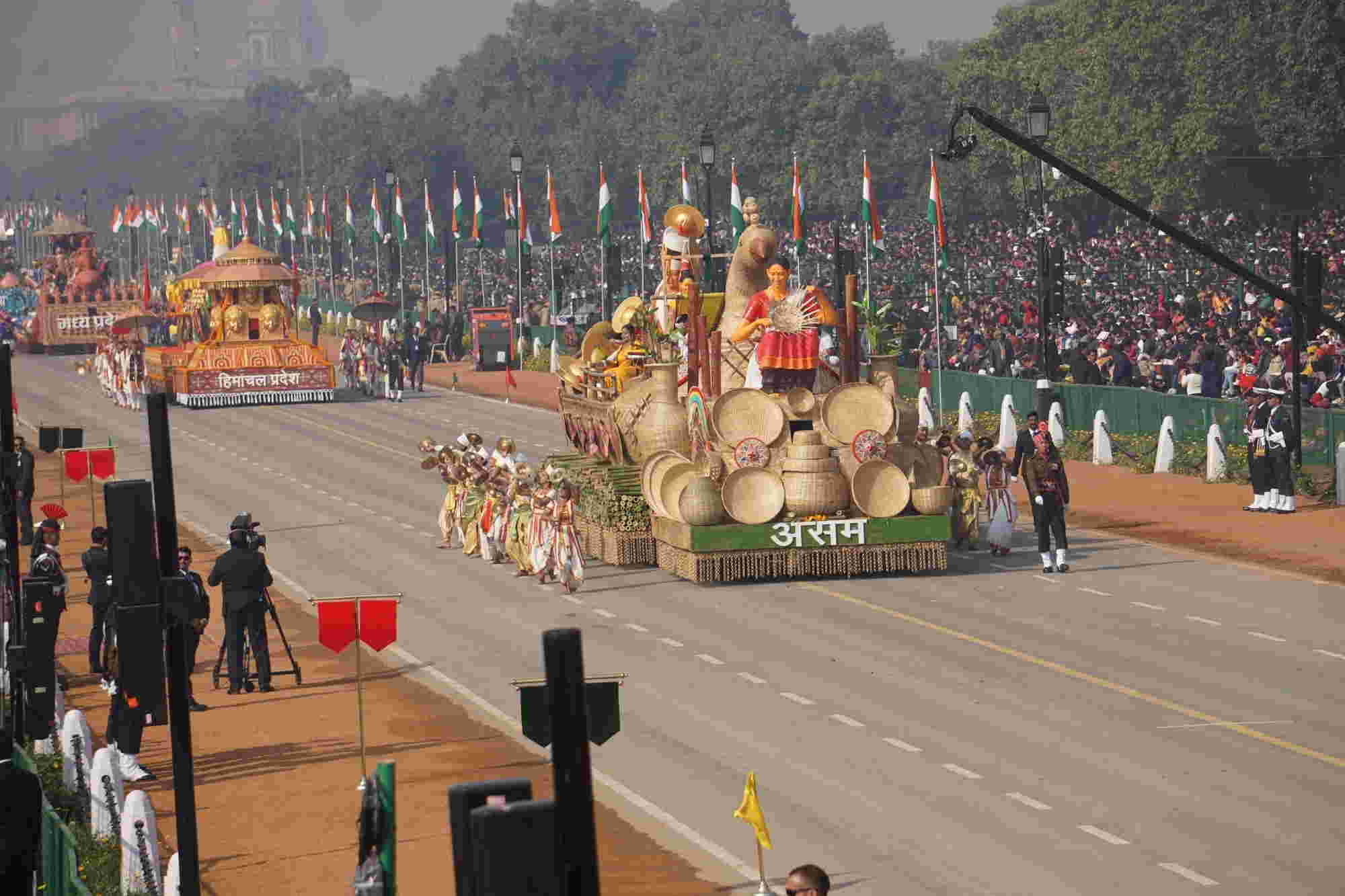 The famous Kaziranga National park and famed Rhino would also be a part of the parade
