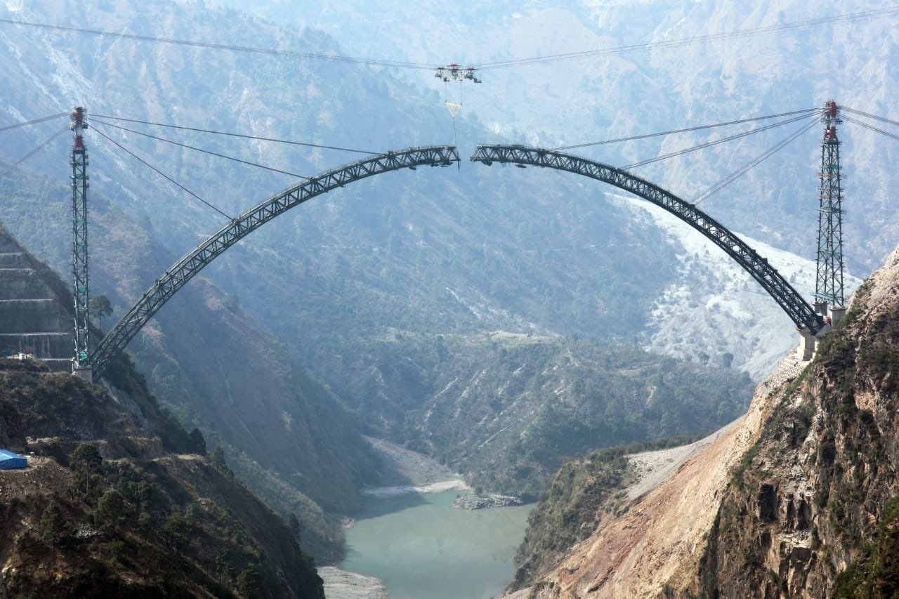 The bridge will be 359m above the Chenab river bed -- 30m higher than the iconic Eiffel Tower in Paris
