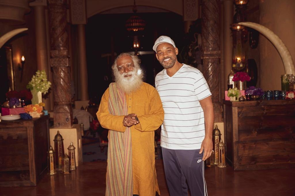 Hollywood star Will Smith with spiritual leader and author Sadhguru, last year