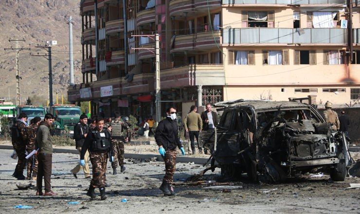A file photo shows the site of an attack in Afghan capital Kabul (Photo: IANS)