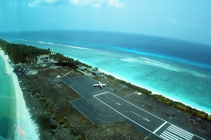 A study states that the only airport in Lakshadweep archipelago, located at the southern tip of Agatti Island is likely to be damaged due to inundation from sea-level rise (Pic Courtesy lakshadweep.gov.in)