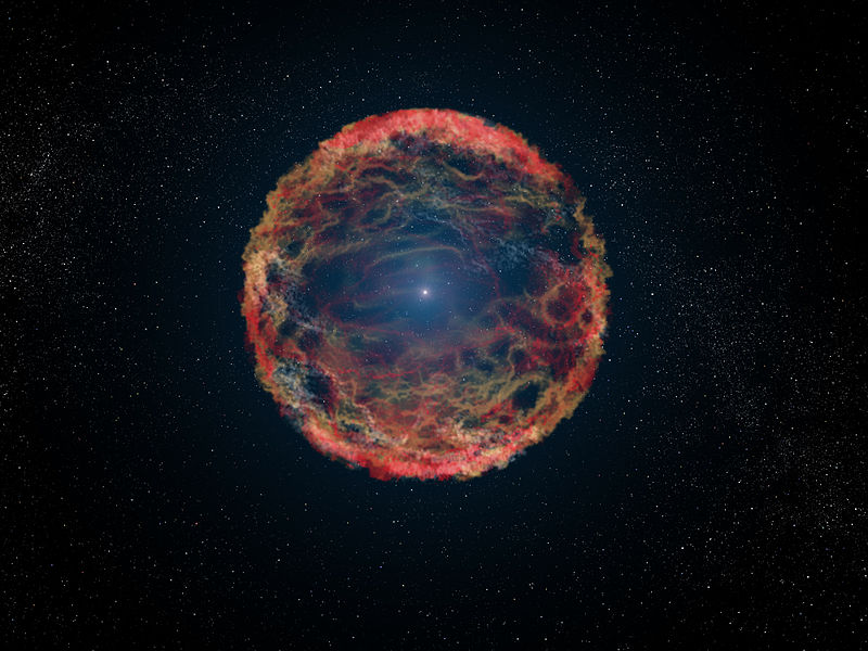 An artist's impression of Supernova (Pic: Courtesy Wikimedia Commons)