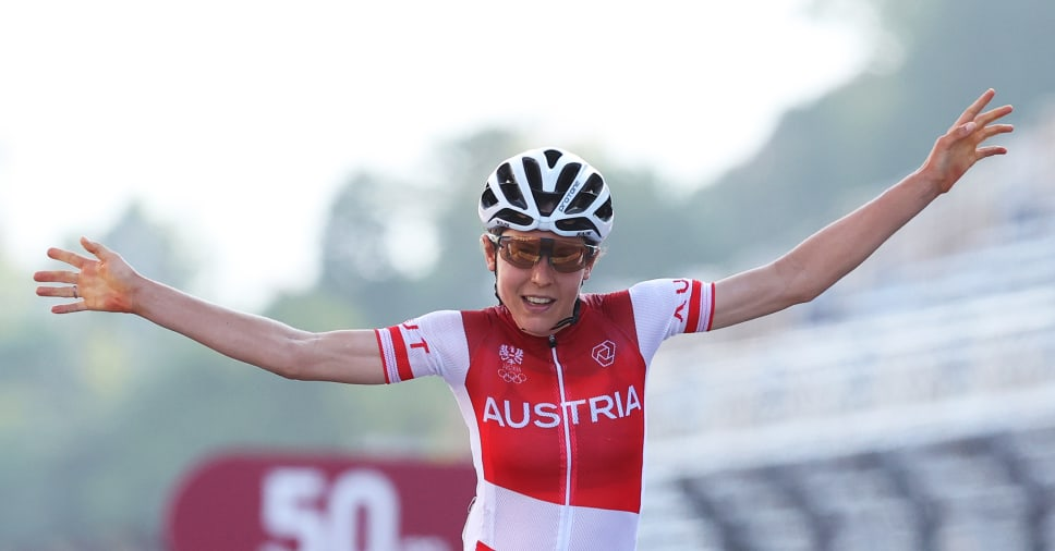 Anna Kiesenhofer won a gold medal in a women's Olympic road race on Sunday