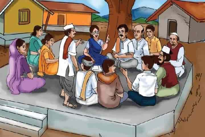 A meeting in the village square in progress where among other things farmers discuss about crops and farming practices (Pic: Courtesy patrika.com)