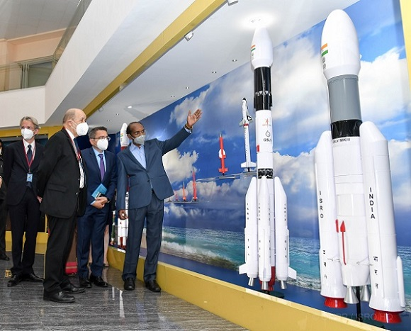 The ISRO chief K. Sivan presented the evolution and achievements of Indian space programme, India-France space cooperation and details of the recent space reforms announced by the Indian government to the visiting French delegation