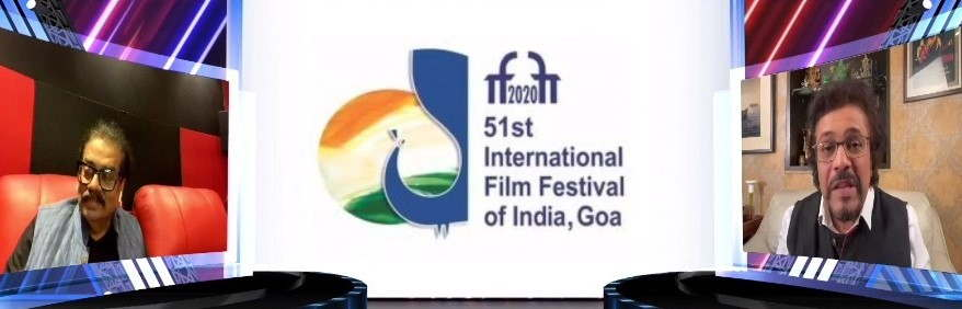 Hariharan and Bickram Ghosh during a discussion at the ongoing 51st International Film Festival of India at Goa