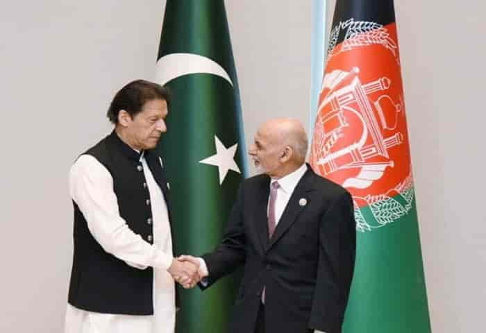 The Afghanistan President Ashraf Ghani chided Pakistan and the country's Prime Minister Imran Khan at the Central and South Asia 2021 conference in Tashkent for siding with Taliban in the ongoing civil unrest in the country (Pic: Courtesy tribune.com.pk)