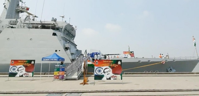 The two Indian ships are scheduled to leave Bangladesh on March 10 at the end of the tour