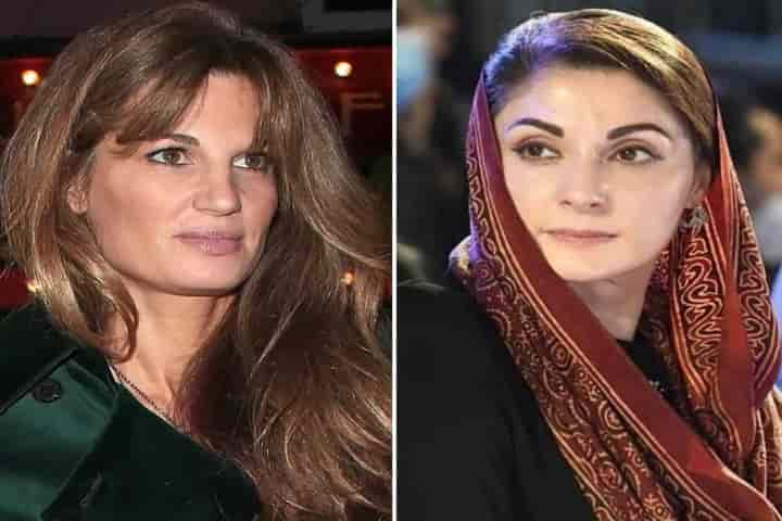 Pakistan's Prime Minister Imran Khan's ex-wife, Jemima Goldsmith and his arch rival PML Vice-President Maryam Nawaz Sharif are involved in a war of words (Pic: Courtesy tribune.com.pk)