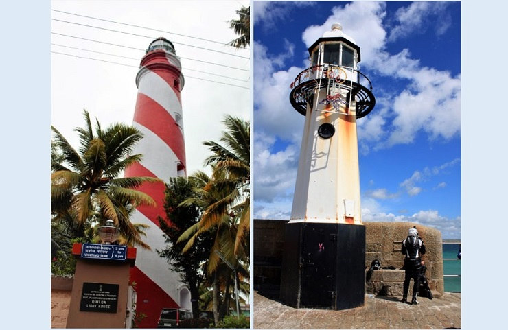 Lighthouses are highly regarded as heritage across the world. A lighthouse in Kerala, India (Left) and another in Cornwall, the UK (Photographs: Rahul Kumar)