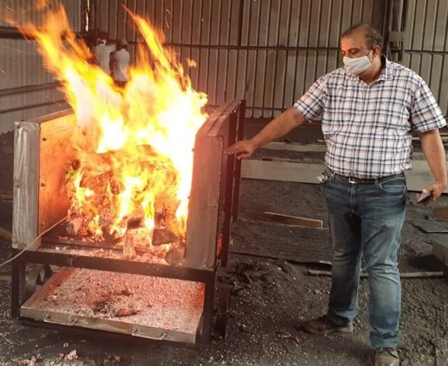 Indian Institute of Technology, Ropar has developed a prototype of a moveable electric cremation system which claims to involve smokeless cremation despite using wood (Pic: Courtesy PIB)