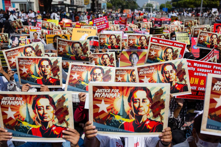 Protests against the coup have continued unabated, surprising the Myanmar army (Photo: IANS)