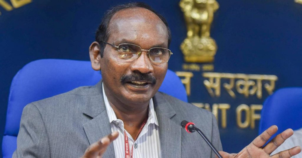 Chairman of the Indian Space Research Organisation(ISRO) K Sivan