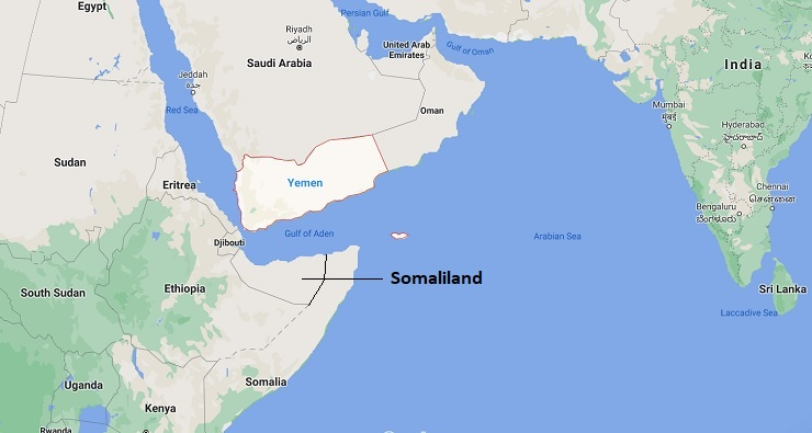 Somaliland is still an unrecognised region in the Horn of Africa (Photo: Google Maps)
