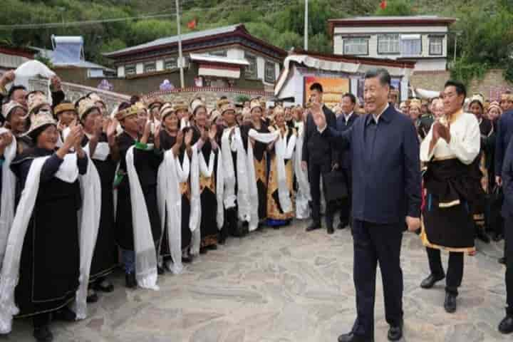 Xi Jinping made a quick, unannounced visit to Tibet — his first as the President of China, including Nyingchi, a strategically located border town close to Arunachal Pradesh (Pic: Courtesy modernshrines.in)