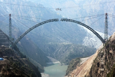 World's highest railway bridge in Kashmir gets finishing touch