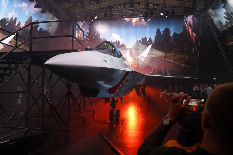 """A prototype Sukhoi """"Checkmate"""" stealth fighter Photo: South China Morning Post"""