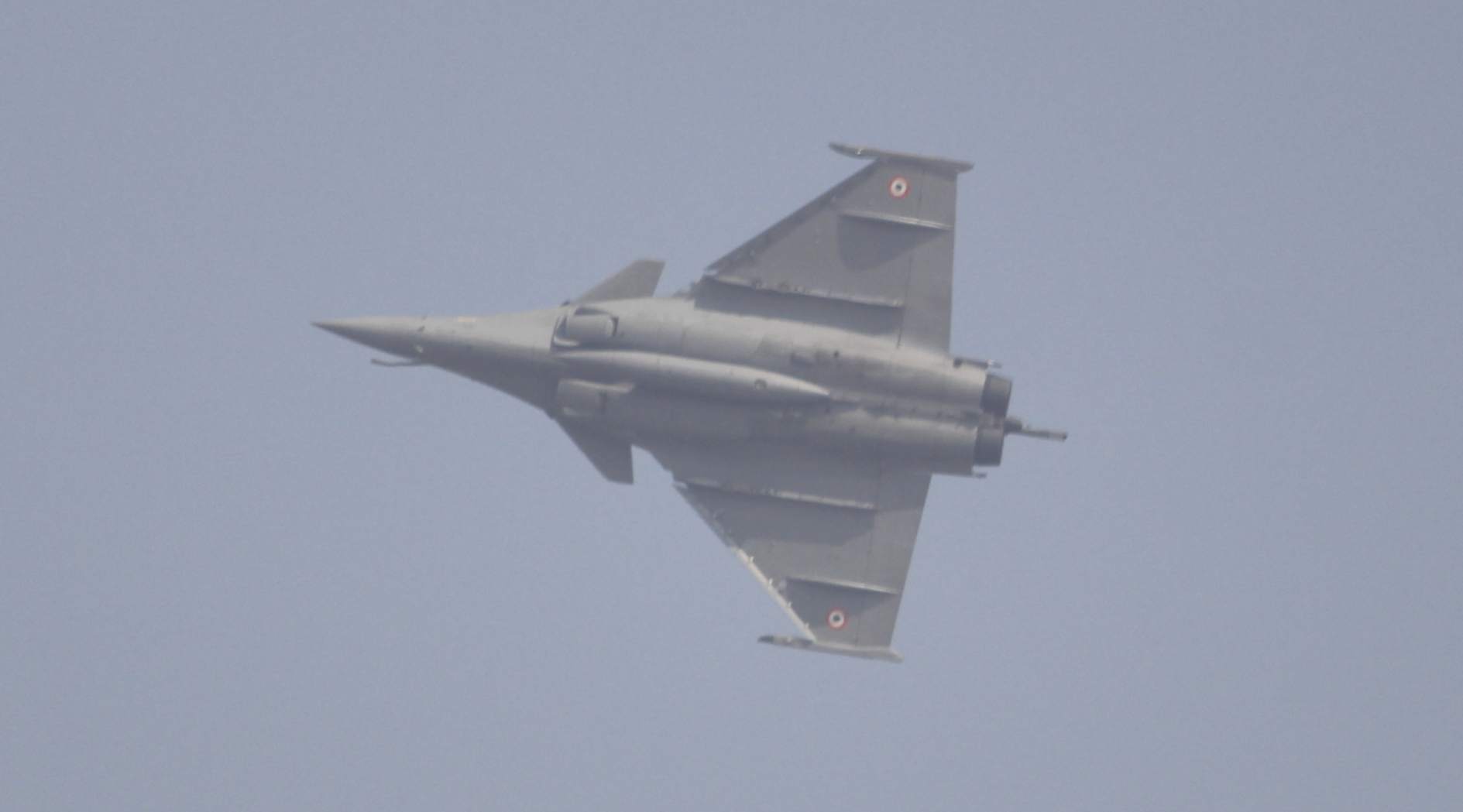 The recently inducted Rafale fighter jet flies past the Hindon Air Force Station during the 88th Air Force Day celebrations in Ghaziabad, Uttar Pradesh in October