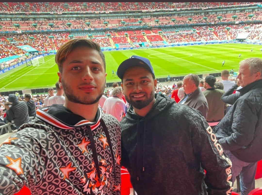 Rishabh Pant had visited the Euro 2020 pre-quarter final between England and Germany on June 29 and had later tweeted pictures of himself with a few of his friends/relatives sitting in the crowd