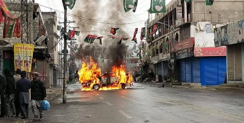 Protests had erupted in Pakistan occupied Kashmir over rigging of polls, last year