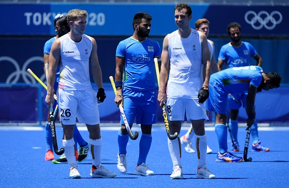 India will now take part in the bronze medal match on Thursday morning (Image courtesy: Twitter/@TheHockeyIndia)