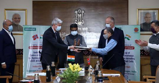 The association between Indian Oil and Greenstat aims to develop a Center of Excellence on Hydrogen including CCUS and Fuel Cells for clean energy in cooperation with Indo-Norwegian Hydrogen Cluster companies/organizations
