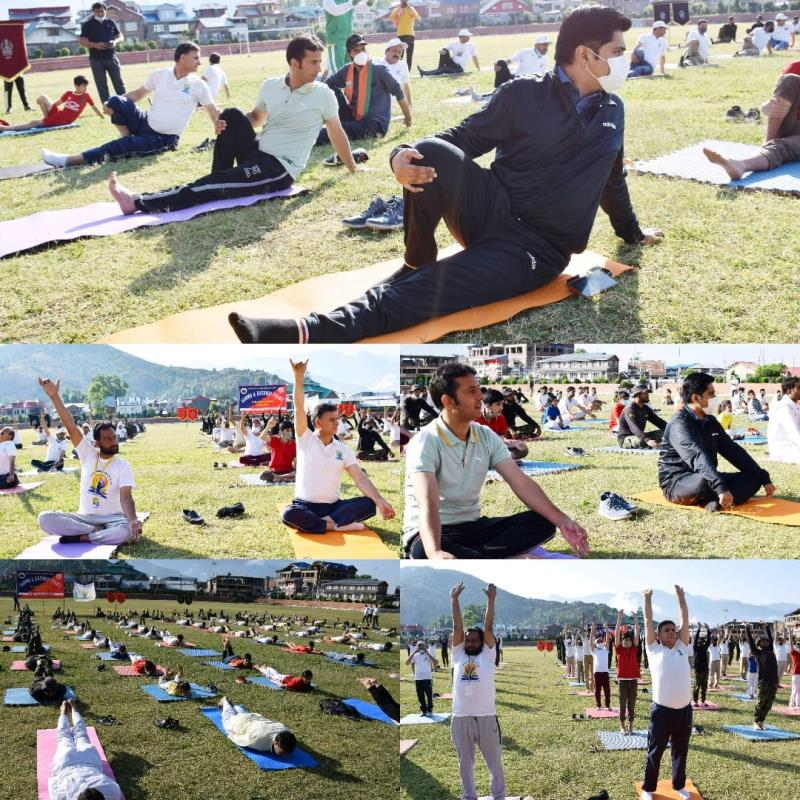 International Day of Yoga was celebrated with full enthusiasm all over Jammu and Kashmir