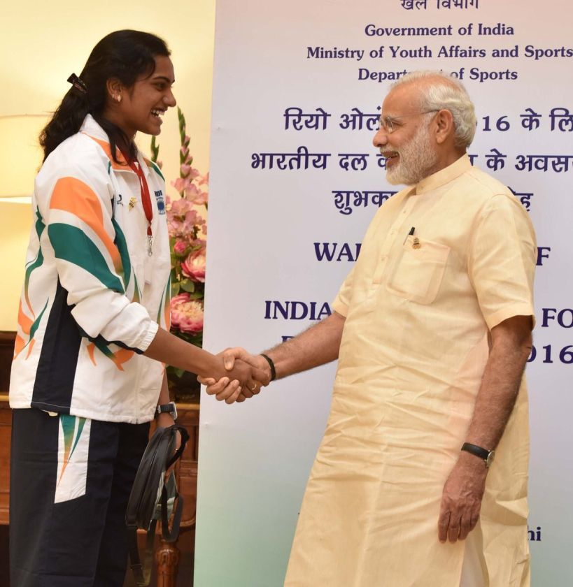 Sindhu wins right to have ice cream with PM Modi!