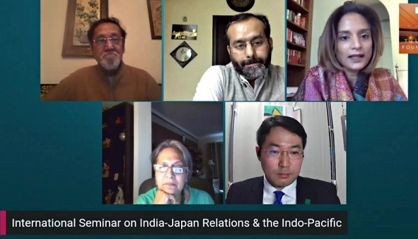 Webinar on India Japan relations and Indo Pacific geopolitics